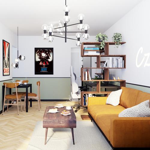 Projekt wnętrza mieszkania w Krakowie
