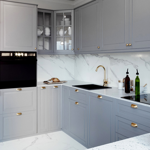 Projekt kuchni w stylu glamour. M2 Architektura architekt Katowice