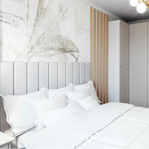 Projekt sypialni w stylu glamour M2 Architektura architekt Katowice