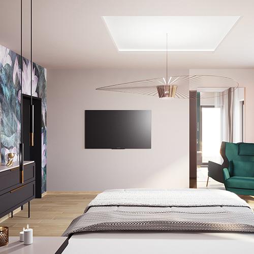 Projekt sypialni w domu jednorodzinnym. M2 Architektura architekt Katowice