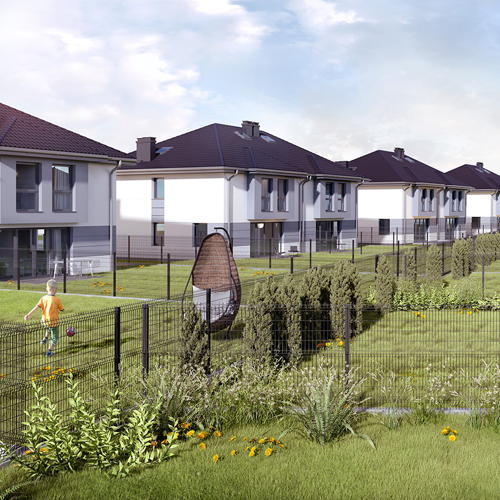 Wizualizacje domów dla deweloperów. M2 Architektura Katowice