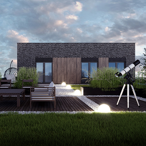 Taras zielony, dom jednorodzinny. M2 Architektura Katowice - Pracownia Projektowa Katowice M2 Architektura Katowice - Pracownia Projektowa Katowice