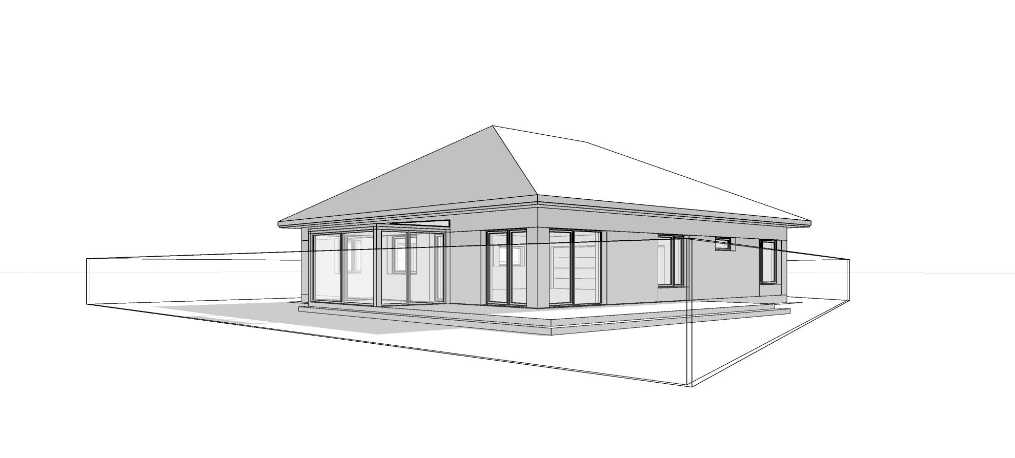 Dom parterowy z dachem kopertowym. M2 Architektura Katowice - Pracownia Projektowa Katowice