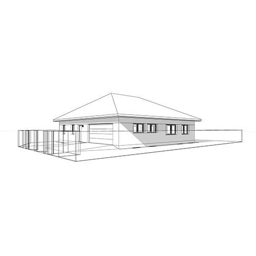 Dom jednorodzinny, dach czterospadowy. M2 Architektura Katowice - Pracownia Projektowa Katowice M2 Architektura Katowice - Pracownia Projektowa Katowice
