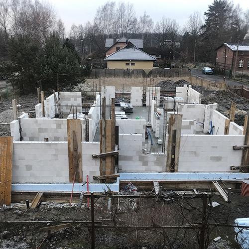 Budowa domu jednorodzinnego na płycie fundamentowej. M2 Architektura Katowice - Pracownia Projektowa Katowice M2 Architektura Katowice - Pracownia Projektowa Katowice