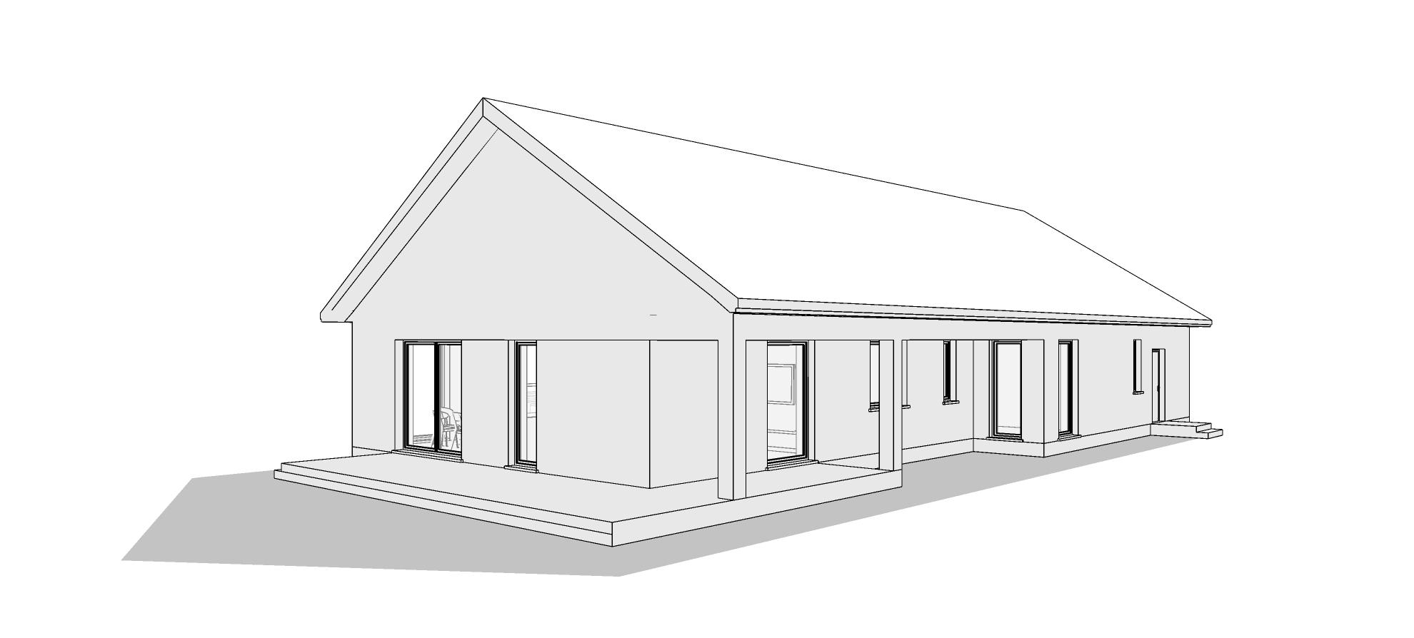 Dom parterowy z dachem dwuspadowym. M2 Architektura Katowice - Pracownia Projektowa Katowice