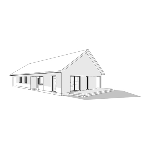 Dom jednorodzinny, dach dwuspadowy. M2 Architektura Katowice - Pracownia Projektowa Katowice M2 Architektura Katowice - Pracownia Projektowa Katowice