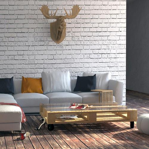 Projekt wnętrz mieszkania, loft, budynek poprzemysłowy - salon, pokój dzienny. M2 Architektura - Pracownia Projektowa Katowice.