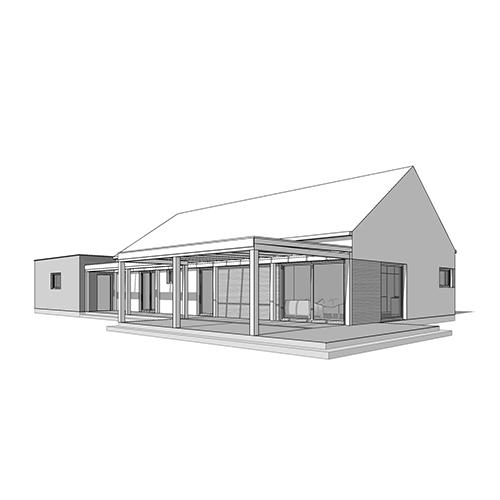 Dom jednorodzinny, dach bezokapowy. M2 Architektura Katowice - Pracownia Projektowa Katowice M2 Architektura Katowice - Pracownia Projektowa Katowice