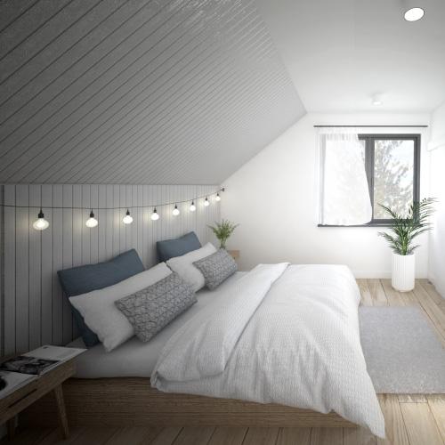Projekt wnętrza mieszkania w budynku mieszkalnym jednorodzinnym w zabudowie bliźniaczej. M2 Architektura - Pracownia Projektowa Katowice