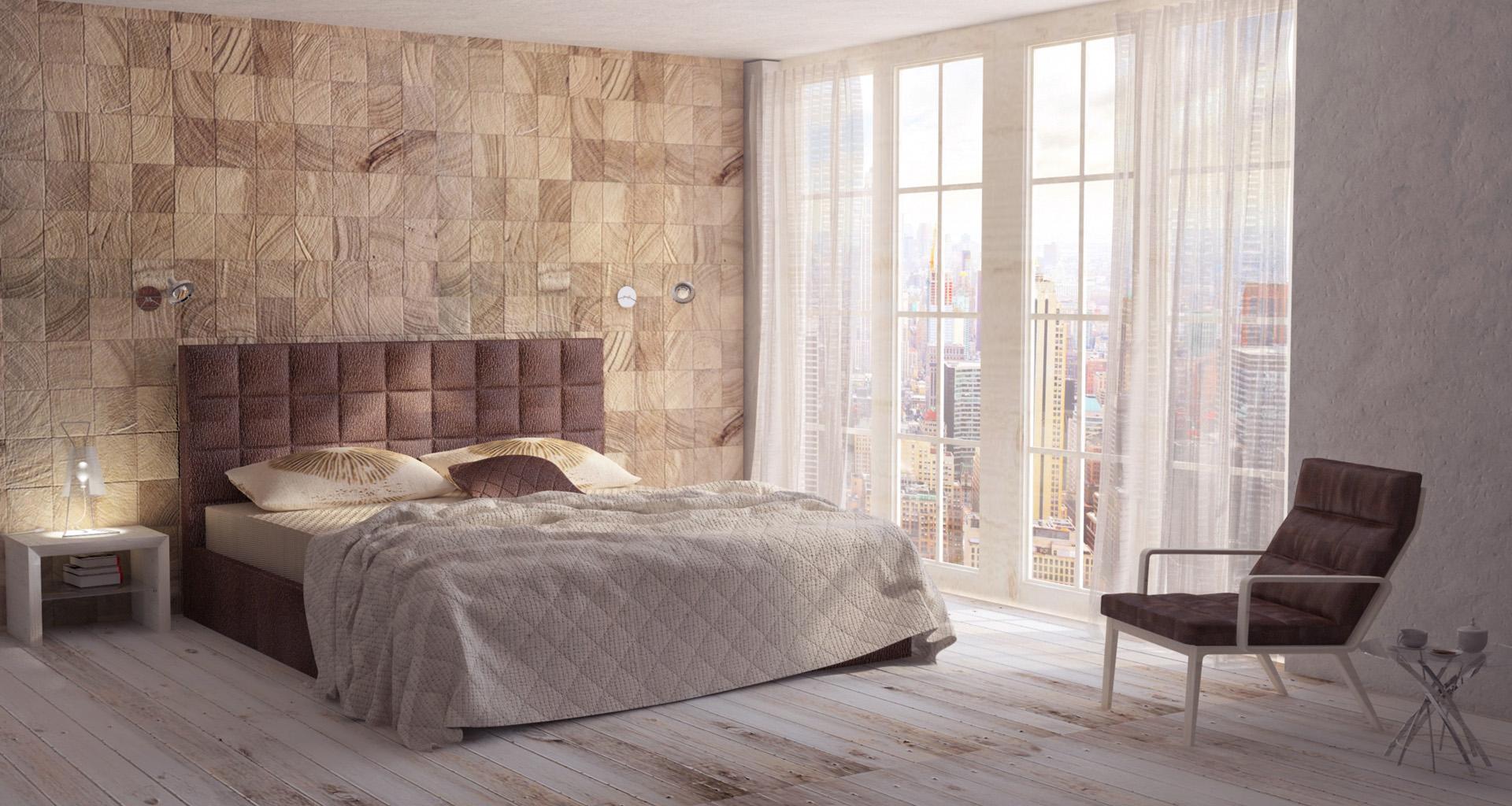 Projekt wnętrz sypialnia. M2 Architektura - Pracownia Projektowa Katowice