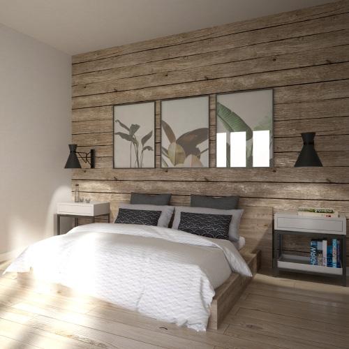 Projekt wnętrza mieszkania - sypialnia. M2 Architektura - Architekci Katowice.
