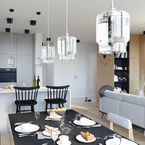 Projekt wnętrz - kamienica, salon, szara kuchnia, industrialny, loft. M2 Architektura Katowice - Pracownia Projektowa Katowice