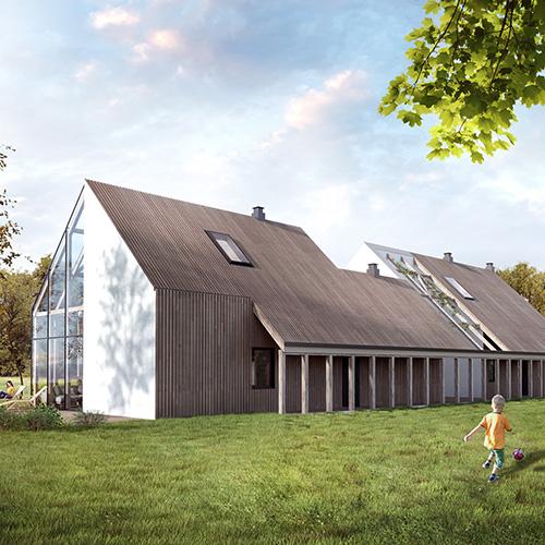 Projekt domu jednorodzinnego - współczesny dom wiejski. M2 Architektura